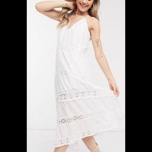 ASOS accessorize white dress large